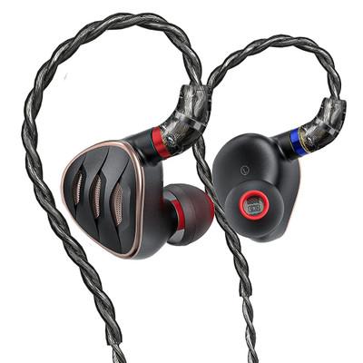 Fiio FH5s Pro Quad Driver Hybrid In-Ear Monitors, With LC-RC Pro Cable (Black)
