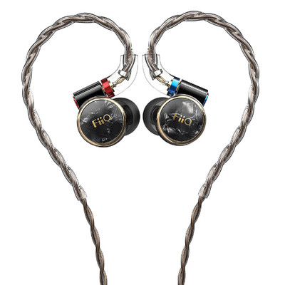 Fiio FD3 Single Dynamic Driver In-Ear Monitors, With Detachable Cable, 4 Strands (Black)