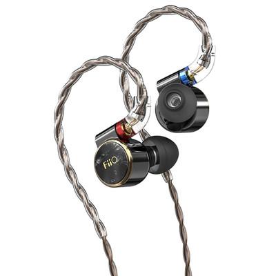 Fiio FD3 Pro Single Dynamic Driver In-Ear Monitors, With Detachable Cable, 8 Strands (Black)