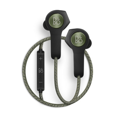 B&O PLAY by Bang & Olufsen BeoPlay H5 Wireless Bluetooth Earphones (Moss Green)