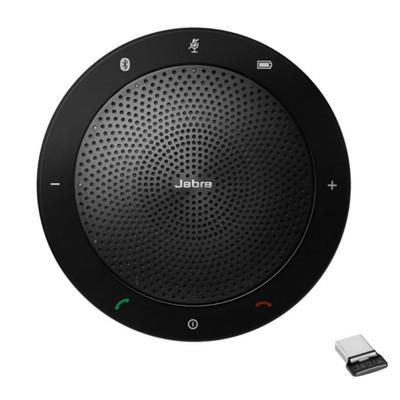 Jabra Speak 510+ UC Wireless Conference Speakerphone, With Link 370 USB Adapter, USB-A