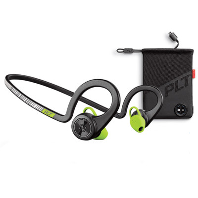 Plantronics BackBeat Fit Boost Edition With Charging Pouch (Black Core)