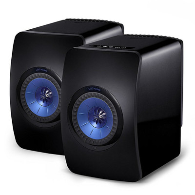 KEF LS50 Wireless High-Res Wireless Speaker (Gloss Black/Blue)