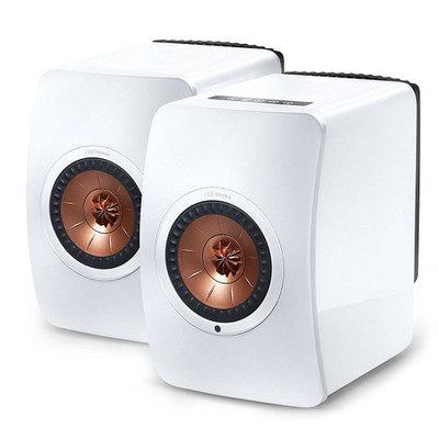 KEF LS50W High-Res Wireless Speaker (Gloss White/Copper)