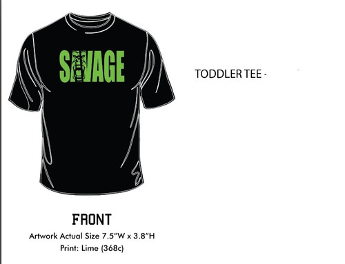 Ultra soft all black T-shirt with Savage logo