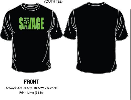ultra soft all black savage t-shirt with savage logo
