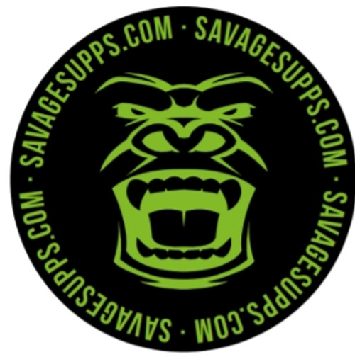 Small Circle black and green Savage gorilla logo patch with no Velcro back