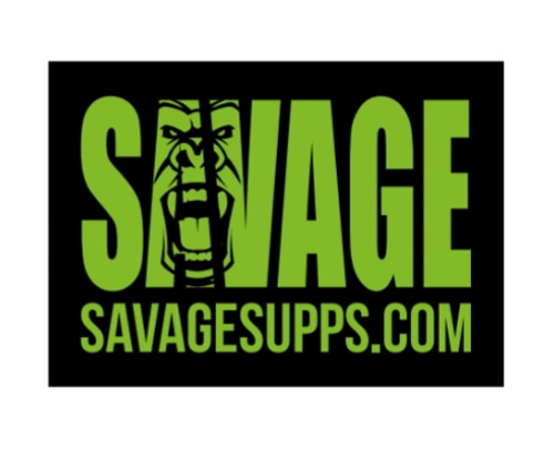 Small rectangle black and green Savage gorilla logo patch with no Velcro back and savage word and black background