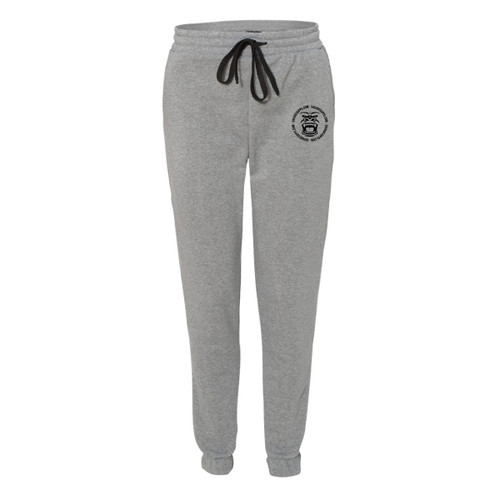 GREY JOGGER SWEATPANTS BLACK GORILLA LOGO