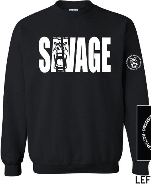 SAVAGE CREW NECK SWEATSHIRT WITH GORILLA FACE