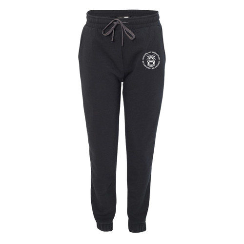BLACK JOGGERS WITH SAVAGE LOGO ULTRA SOFT SWEATPANTS. LOGO COLOR OPTIONS IN GREEN, RED, AND WHITE GORILLA FACE.