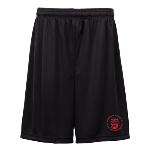 SUPER COMFY SILKY ALL BLACK SAVAGE SHORTS WITH GORILLA FACE LOGO IN COLOR OPTIONS OF RED, GREEN, BLACK, OR  WHITE.
