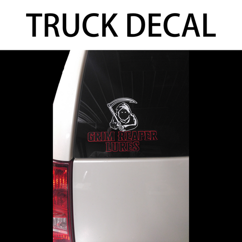 Grim Reaper Lures Decal - Truck Window