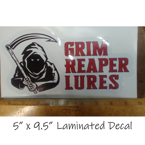 """5"""" X 9.5"""" Laminated Decal on White Background"""