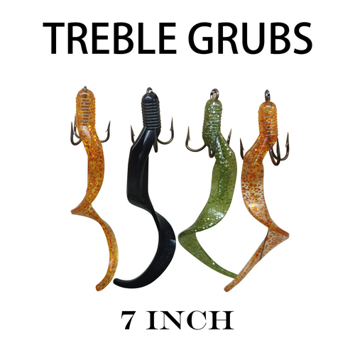 7 Inch Trailer Grub | Molded For Hook (Hooks Not Included)