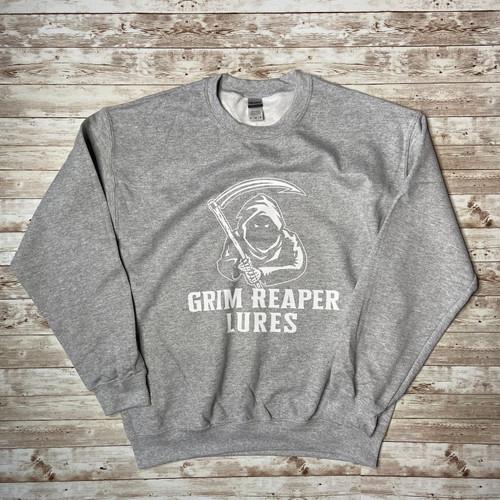 Grim Reaper Lures Sports Grey Crew Neck Sweatshirts