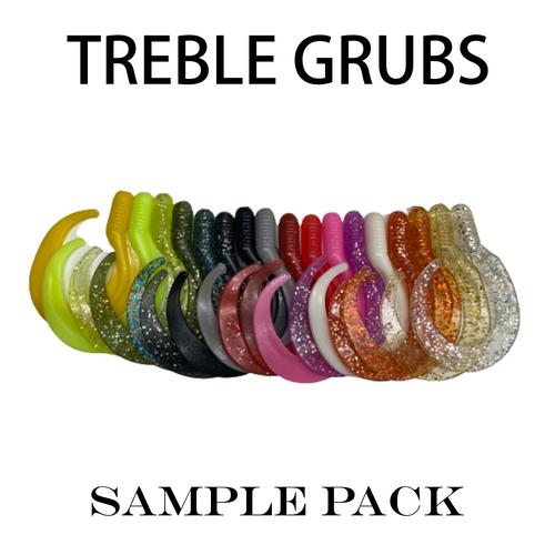 7 Inch Trailer Grub Sample Pack | Grubs Molded For Hook (Hooks Not Included)