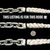 "Windlass Anchor Rode 15' - 1/4"" Gal G4 Chain 1/2"" 8 -Plait Nylon Rope"