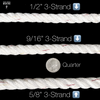 "Windlass Anchor Rode 25' - 1/4"" Gal G4 Chain 1/2"" 3-Strand Nylon Rope"