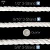 "Windlass Anchor Rode 25' -5/16"" Gal G4 Chain 9/16"" 3-Strand Rope"