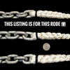 "Windlass Anchor Rode 15' - 5/16"" Gal G4 Chain 9/16"" 8-Plait Rope"