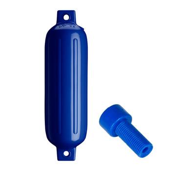 """Polyform G-3 Twin Eye Fender 5.5"""" x 19"""" - Cobalt Blue w/Air Adapter"""