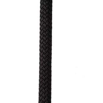 "New England Ropes 1/2"" X 35' Nylon Double Braid Dock Line - Black"
