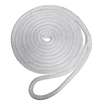 "Robline Premium Nylon Double Braid Dock Line - 1/2"" x 25' - White"