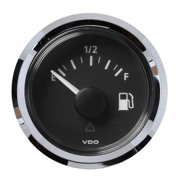 "VDO Marine 2-1/16"" (52mm) ViewLine Fuel Level Gauge Empty/Full - 8-32V - 240 - 33.5 OHM - Black Dial & Chrome Triangular"