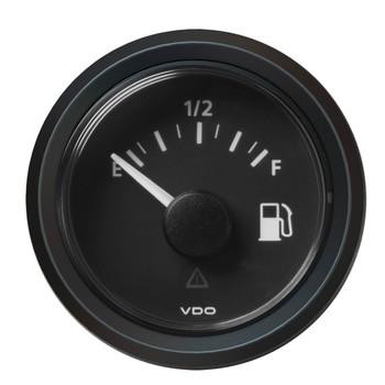 "VDO Marine 2-1/16"" (52mm) ViewLine Fuel Level Gauge Empty/Full - 8-32V - 240 - 33.5 OHM - Black Dial & Triangular Bezel"