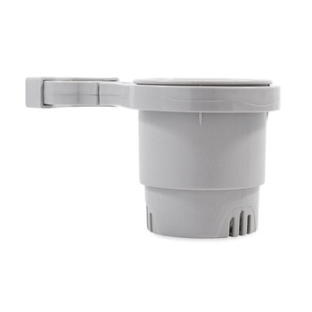 """Camco Clamp-On Rail Mounted Cup Holder - Large for Up to 2"""" Rail - Grey"""
