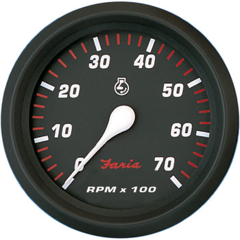 "Faria Professional Red 4"" Tachometer - 7,000 RPM"