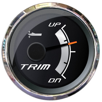 "Faria Platinum 2"" Trim Gauge f/Mercury, Mariner, Mercruiser, Volvo DP, Yamaha 2001 & Newer"