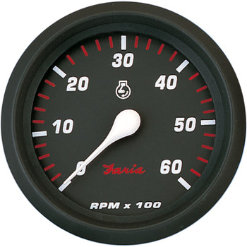 "Faria Professional Red 4"" Tachometer - 6,000 RPM"