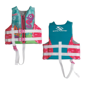 Puddle Jumper Child Hydroprene Life Vest - Seahorse - 30-50lbs