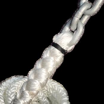 "Windlass Anchor Rode 25' - 1/4"" Gal G4 Chain 1/2"" 8-Plait Nylon Rope"