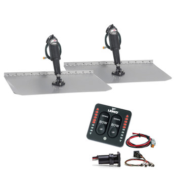 "Lenco 12"" x 12"" Standard Trim Tab Kit w/LED Integrated Switch Kit 12V"