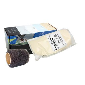 """KiwiGrip 1 Liter Pouch - Cream w/4"""" Roller"""