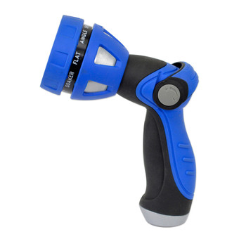 HoseCoil Thumb Lever Nozzle w/Metal Body & Nine Pattern Adjustable Spray Head