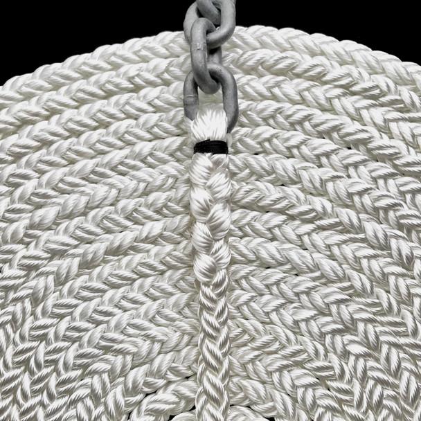 "15' of 1/4"" Galvanized Chain with 1/2"" 8 -Plait Nylon Rope"