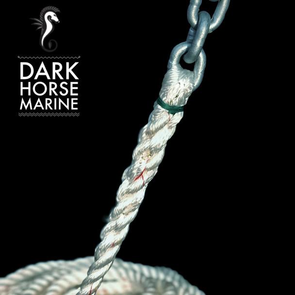 """Dark Horse Extended 5/16"""" G4 Chain &  5/8"""" 3-Strand Line"""