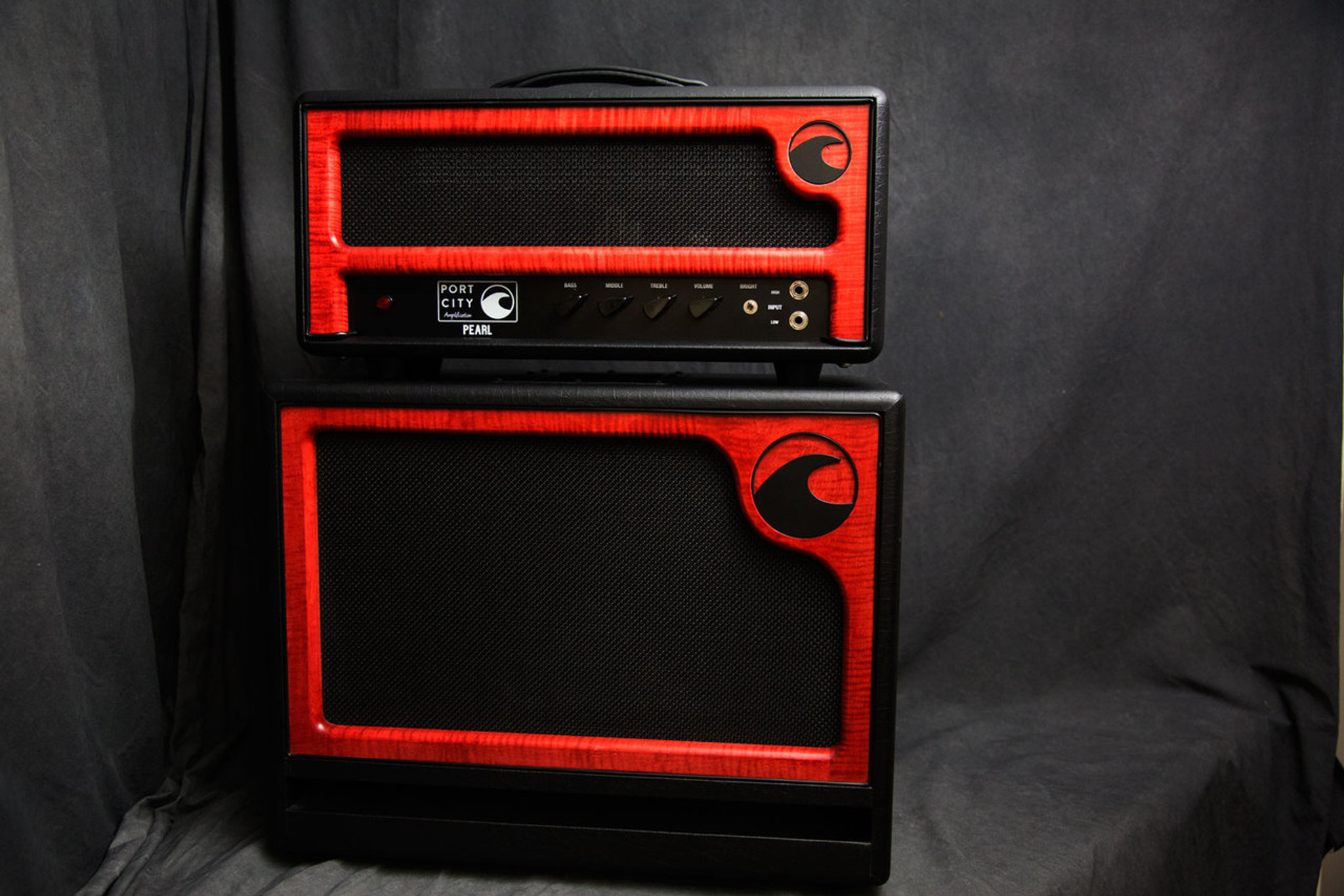 Port City Amps Pearl Head and 1X12 Cabinet