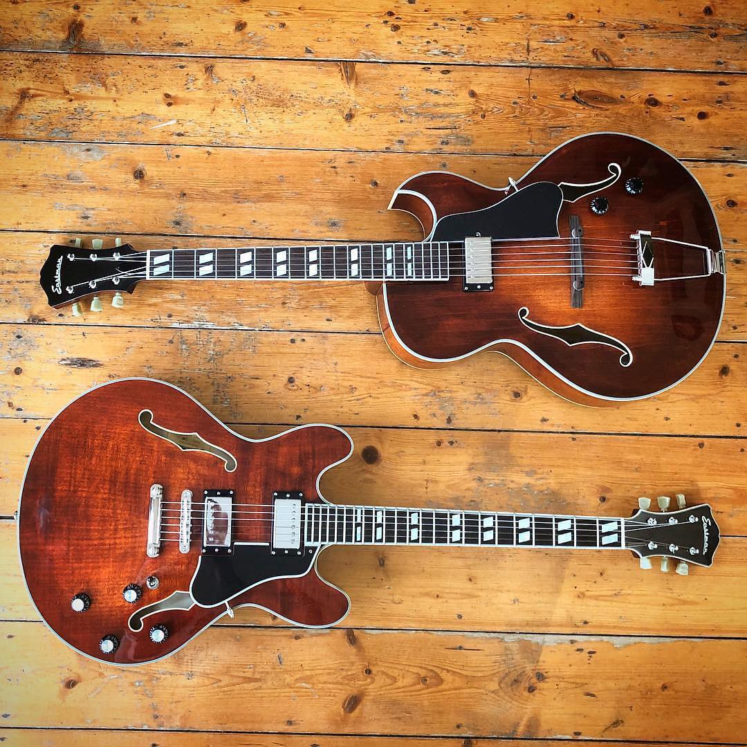 Two Eastman Guitars at Area 22 Guitars, located in Western North Carolina
