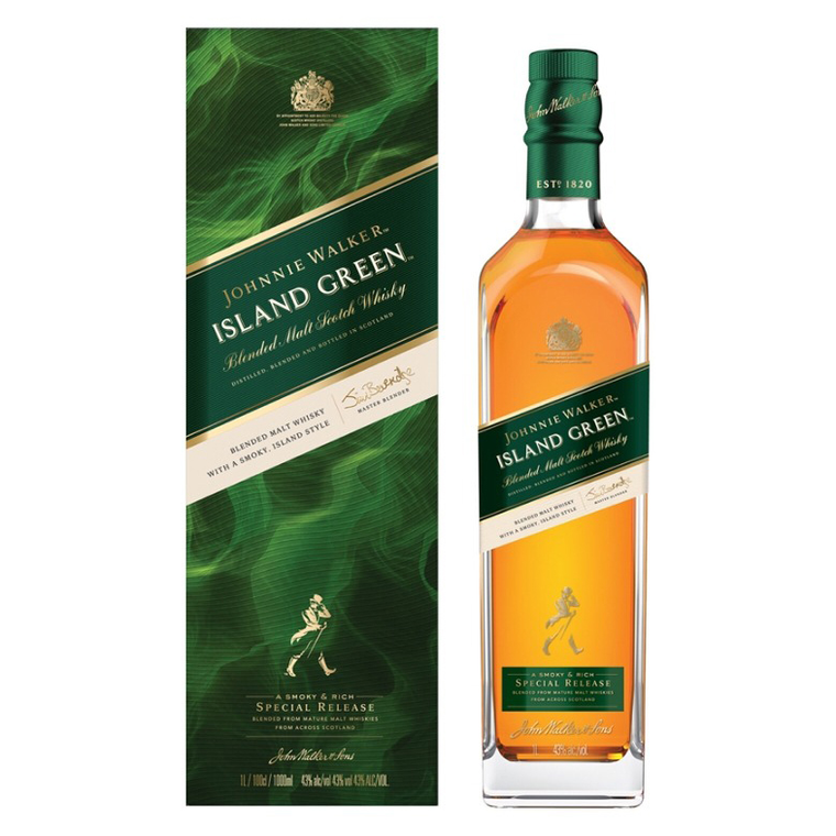 Johnnie Walker Island Green Blended Malt Scotch Whisky [1000ml]