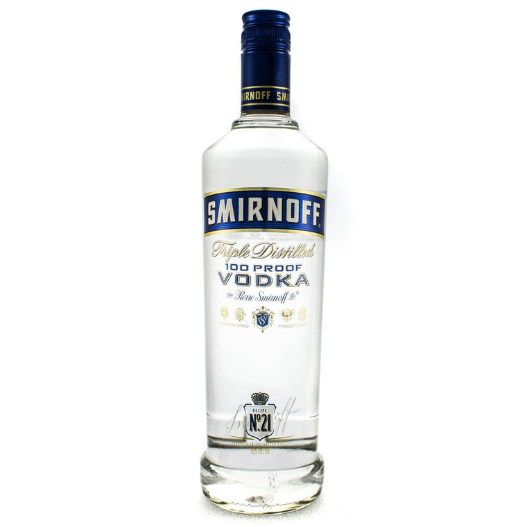 Smirnoff Blue Triple Distilled 100 Proof Vodka [1000ml]