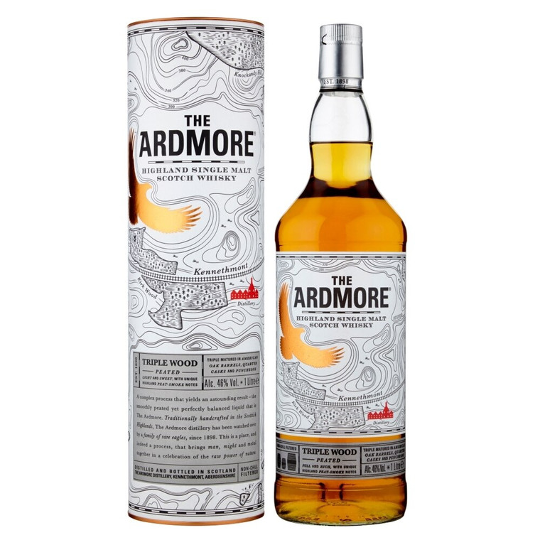 Ardmore Triple Wood Highland Single Malt Scotch Whisky [1000ml]