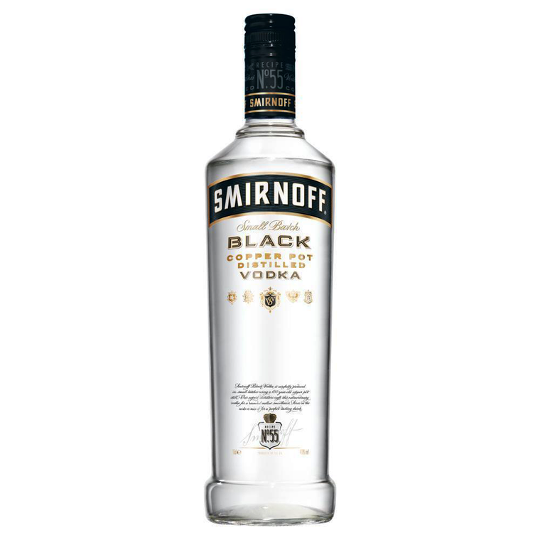 Smirnoff Black Small Batch Copper Pot Distilled Vodka [1000ml]