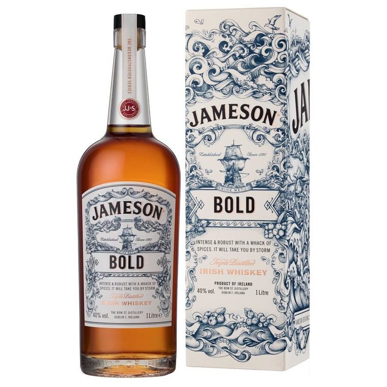 Jameson Bold Triple Distilled Irish Whiskey [1000ml]