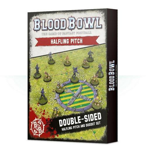 Warhammer Blood Bowl: Halfling Team Pitch & Dugouts