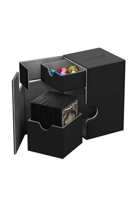 Ultimate Guard Flip N Tray Deck Case 100+ Standard Size Xenoskin Black